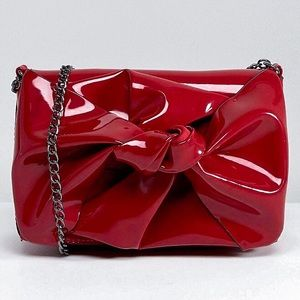 NWT, Asos, New look, red patent bow chain bag